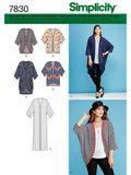 Simplicity Schnittmuster 7830 - Damen leichter Mantel, Kimono 001