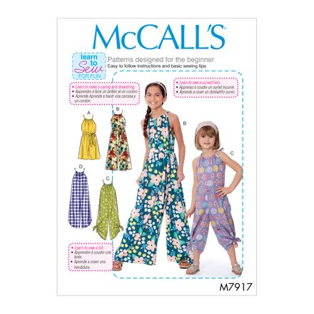 McCall´s Schnittmuster - 7917- Kinder - Jumpsuit
