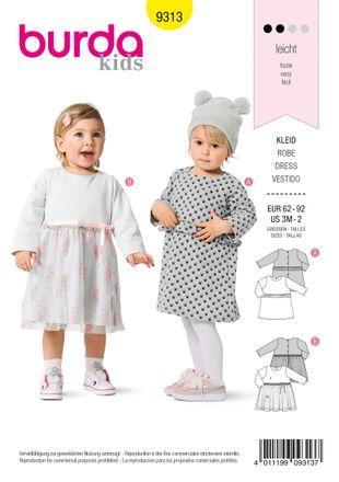 Burda Schnittmuster - 9313 - Kinder Kleid