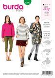 Burda Schnittmuster - 6296 - Damen Sweatshirts/Hoodies 001
