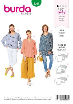 Burda Schnittmuster - 6266 - Damen Bluse