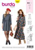 Burda Schnittmuster - 6265 - Damen Kleid 001