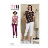 Vogue Schnittmuster V1630 - Damen Shirt und Hose 001