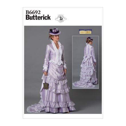 Butterick Schnittmuster - 6692 - Damen Kostüm - historisches Kleid