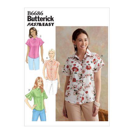 Butterick Schnittmuster - 6686 - Damen Bluse