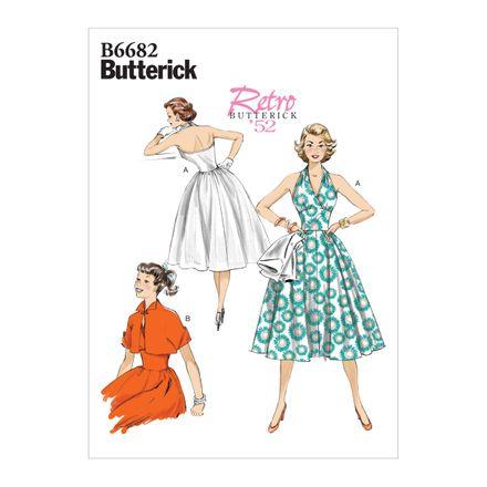 Butterick Schnittmuster - 6682 - Damen Retrokleid der 50er Jahre