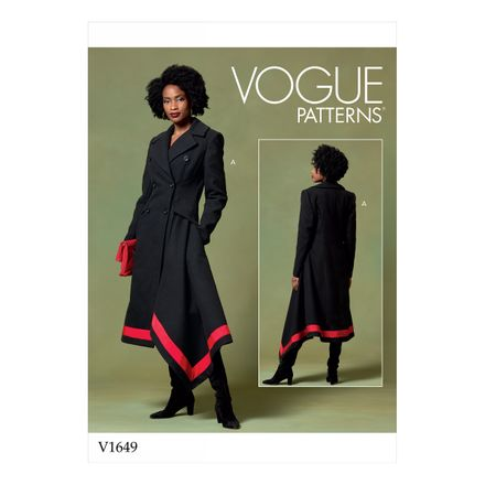 Vogue Schnittmuster V1649 - Damen Mantel