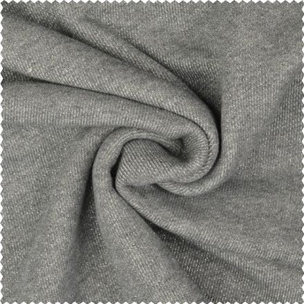 Lurex Sweat-Shirt - grau/silber
