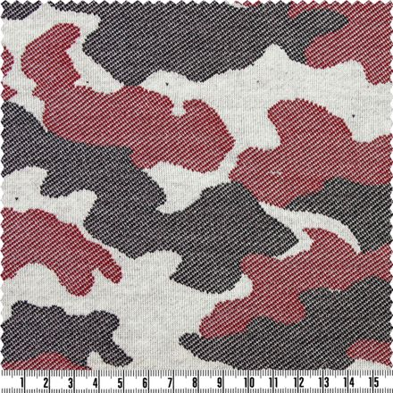 Sweat-Shirt - Camouflage - schwarz/rot