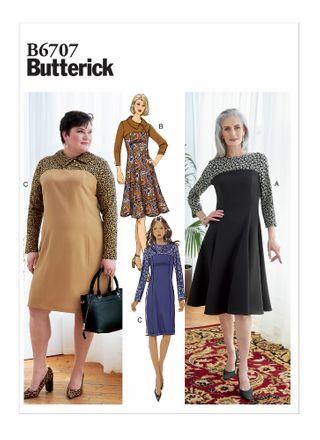 Butterick Schnittmuster - 6707 - Damen Kleid