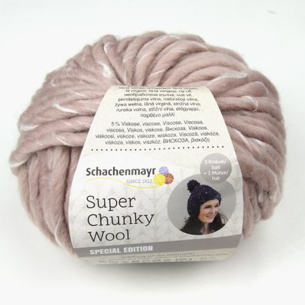 Super Chunky Wool - Dochtgarn - rose