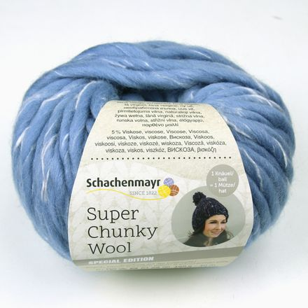 Super Chunky Wool - Dochtgarn - polarblue