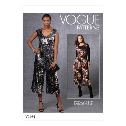 Vogue Schnittmuster V1664 - Damen Jumpsuit