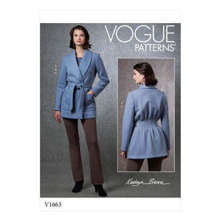 Vogue Schnittmuster V1663 - Damen Jacke, Shirt & Hose