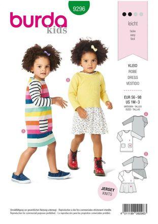 Burda Schnittmuster - 9296 - Kinder Kleid