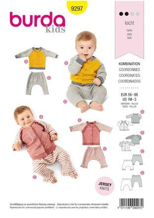 Burda Schnittmuster - 9297 - Kinder Kombination