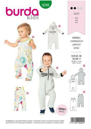 Burda Schnittmuster - 9299 - Kinder Overall