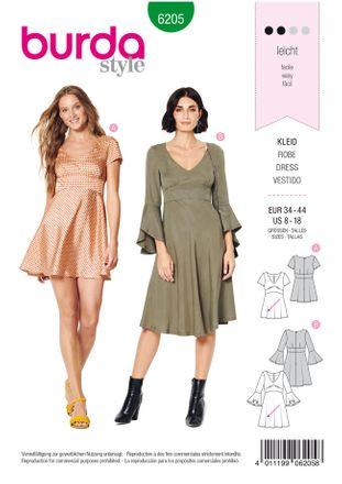 Burda Schnittmuster - 6205 - Damen Kleid