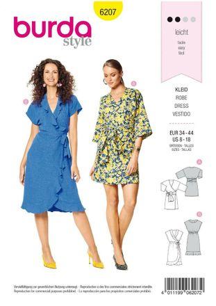 Burda Schnittmuster - 6207 - Damen Kleid
