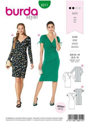 Burda Schnittmuster - 6211 - Damen Kleid