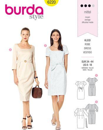 Burda Schnittmuster - 6220 - Damen Kleid