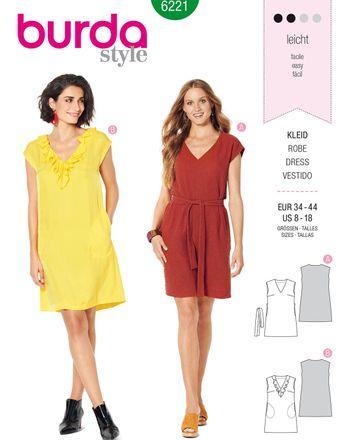 Burda Schnittmuster - 6221 - Damen Kleid