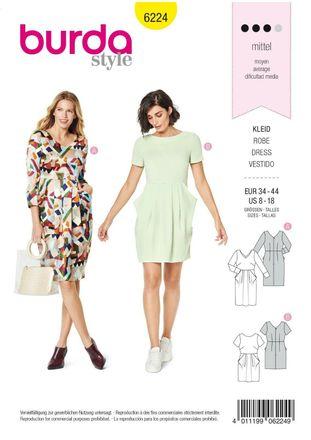 Burda Schnittmuster - 6224 - Damen Kleid