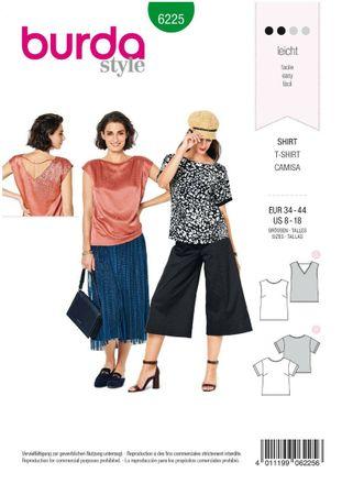Burda Schnittmuster - 6225 - Damen Shirt