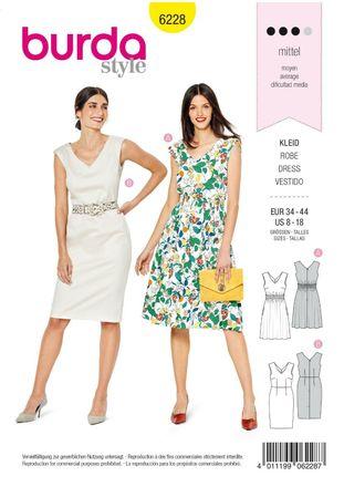 Burda Schnittmuster - 6228 - Damen Kleid