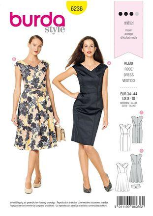 Burda Schnittmuster - 6236 - Damen Kleid