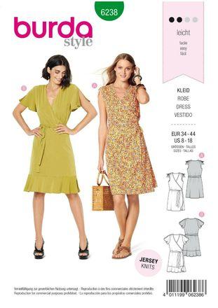 Burda Schnittmuster - 6238 - Damen Kleid