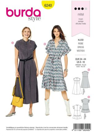 Burda Schnittmuster - 6240 - Damen Kleid