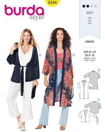 Burda Schnittmuster - 6244 - Damen Kimono