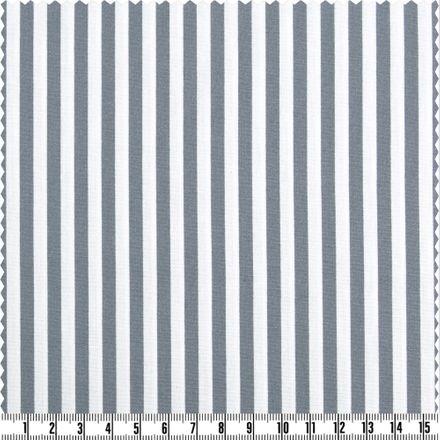Baumwoll-Print - schmale Streifen - hellgrau/weiß