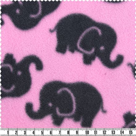 Polar-Fleece - rosa/grau