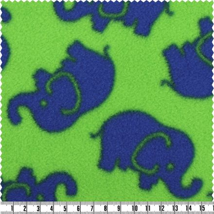 Polar-Fleece - kiwi/blau