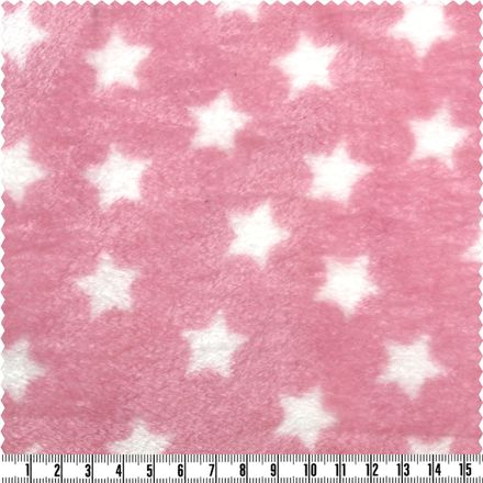 Wellness-Fleece - Sterne - rosa
