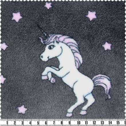 Wellness-Fleece - Einhorn - anthrazit
