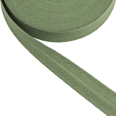 Baumwoll-Schrägband - 40/20mm - oliv