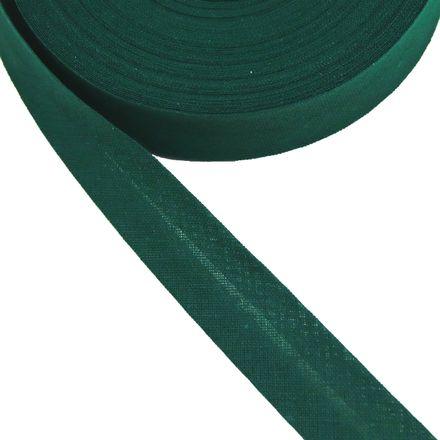 Baumwoll-Schrägband - 40/20mm - dunkelgrün