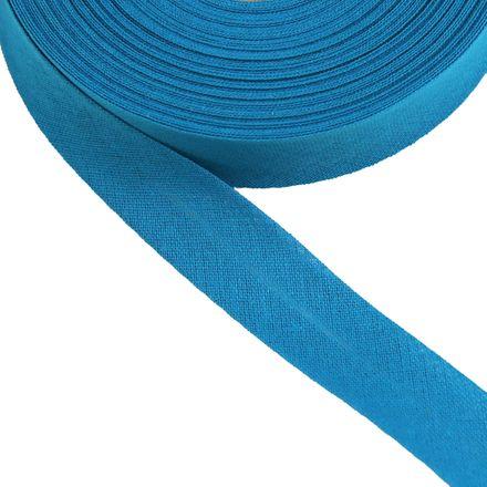 Baumwoll-Schrägband - 40/20mm - blau