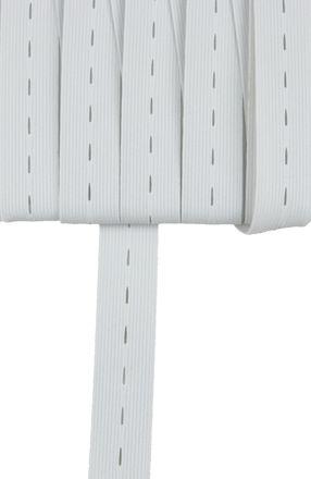 Knopfloch-Elasticband - 25 mm - weiß