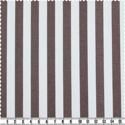 Baumwoll-Stretch - Stripes - grau/weiß