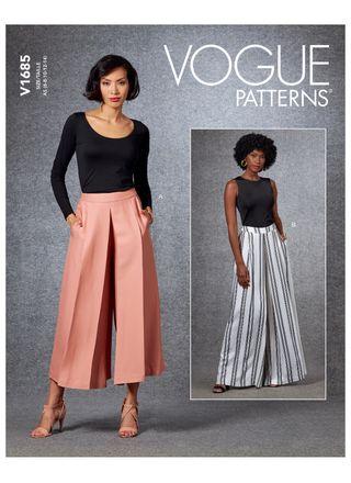 Vogue Schnittmuster V1685 - Damen Hose