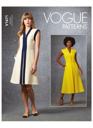 Vogue Schnittmuster V1671 - Damen Kleid