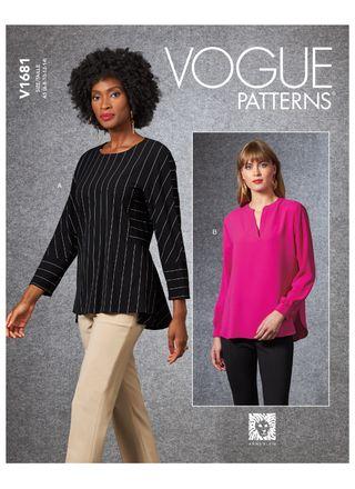 Vogue Schnittmuster V1681 - Damen Bluse