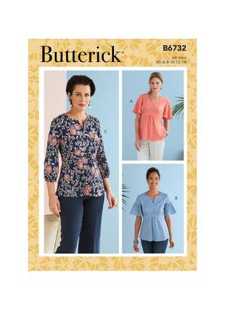 Butterick Schnittmuster - 6732 - Damen - Bluse