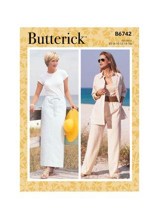 Butterick Schnittmuster - 6743 - Damen - Maxirock & Hose, Shorts