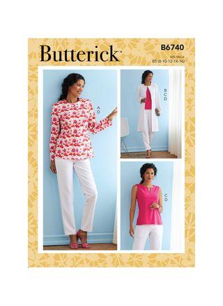Butterick Schnittmuster - 6740 - Damen - Kombination