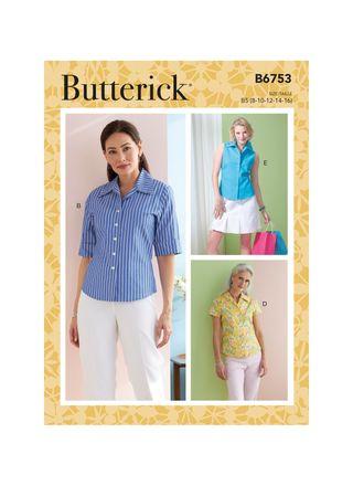Butterick Schnittmuster - 6753 - Damen - Bluse